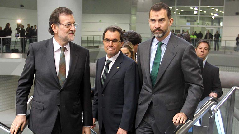 Rajoy, Mas i el Felipe VI