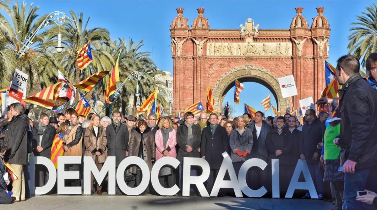 BARCELONA 06 02 2017   Judici pel 9N a Artur Mas  Joana Ortega  i Irene Rigau pel 9N al TSJC  FOTO FERRAN SENDRA